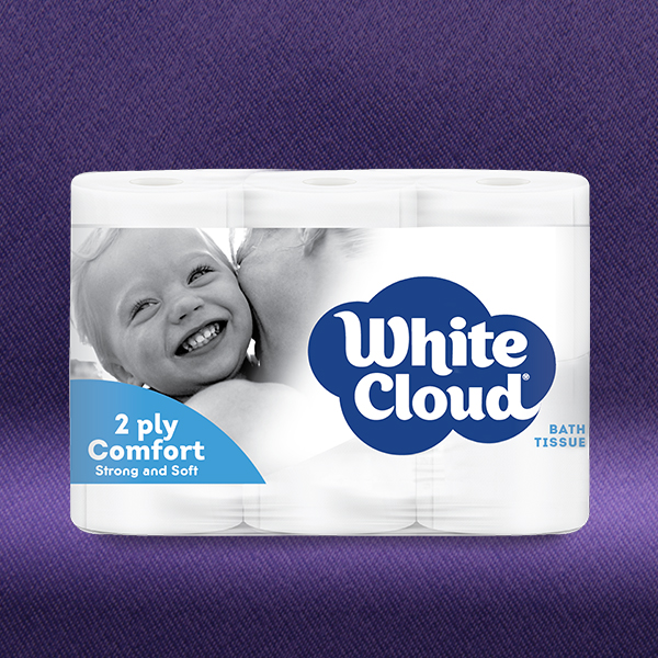 White Cloud® 2ply Comfort - 6-Roll Pkg