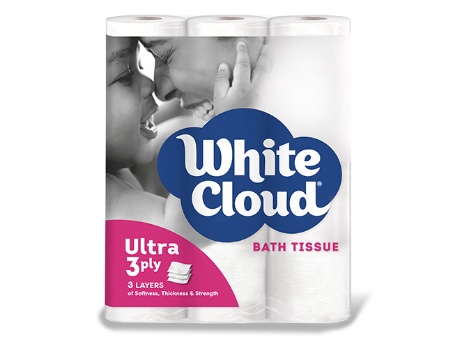 White Cloud® Ultra 3ply-12-Roll PKG